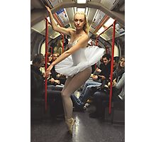 10. Street Ballerina - Central Line, London Photographic Print