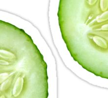 Two slices of cucumber Sticker