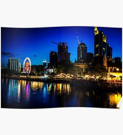 Frankfurt Waterfront Poster