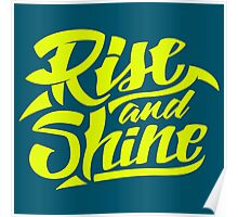 Rise and Shine - Cool Hand Lettering Typography Design Poster