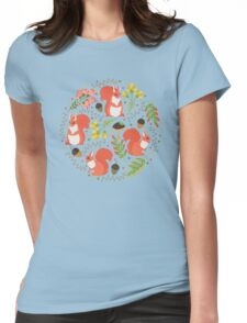 Squirrels Womens Fitted T-Shirt
