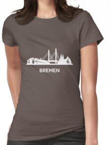 Bremen, white Womens Fitted T-Shirt