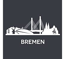 Bremen, white Photographic Print