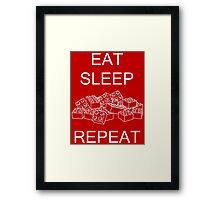 Eat, Sleep, Brick, Repeat Framed Print