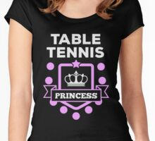 Table tennis princess! Women's Fitted Scoop T-Shirt