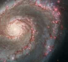 The whirlpool galaxy (M51) and companion galaxy. Sticker