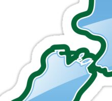 NEW ZEALAND trendy map island Sticker