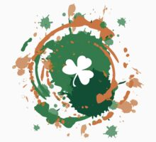 Cool Lucky Clover - Ink Background  Kids Clothes