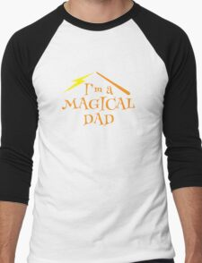 I'm a magical dad with a wizard magic wand Men's Baseball ¾ T-Shirt
