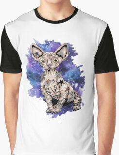 Hardcore Sphinx Cat Graphic T-Shirt