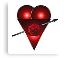21st Century Love Heart  Canvas Print