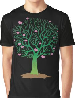 LOVE TREE beautiful oak with love hearts Graphic T-Shirt