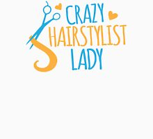 Crazy Hairstylist lady Womens Fitted T-Shirt