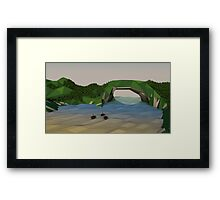 Low Poly Mountainpass Framed Print