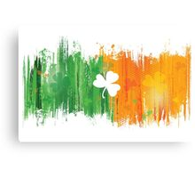 Cool Lucky Clover and Ink Canvas Print