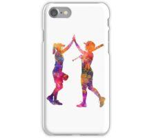 women playing softball 01 iPhone Case/Skin