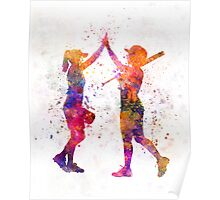 women playing softball 01 Poster