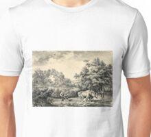 American farm scenes No. 1 - Currier & Ives - 1853 Unisex T-Shirt