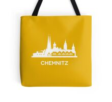 Chemnitz City Skyline, white Tote Bag