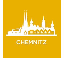 Chemnitz City Skyline, white Photographic Print