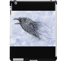 Dot work Crow on Watercolour iPad Case/Skin