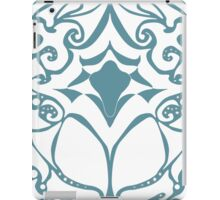 Pattern Series: White and Teal Swirl iPad Case/Skin