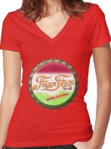 Figgy Fizz - Bert's missing bottle cap Women's Fitted V-Neck T-Shirt