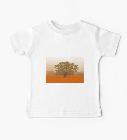 Autumn Tree In A Field Of Orange Baby Tee