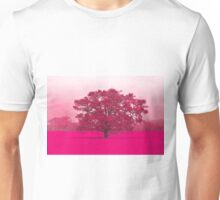 Hot Tree In A Field Of Pink Unisex T-Shirt
