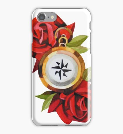 Rose & Compass Traditional iPhone Case/Skin