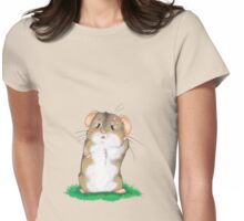 Sad hamster Womens Fitted T-Shirt