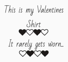 This is my valentines shirt Kids Tee
