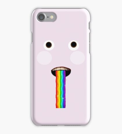 Scary snapchat rainbow filter  iPhone Case/Skin