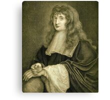 Sir Isaac Newton illustration Canvas Print