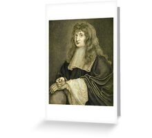 Sir Isaac Newton illustration Greeting Card