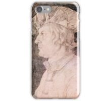 Albrecht Durer,  PORTRAIT OF A MAN (PENCIL ON PAPER). iPhone Case/Skin