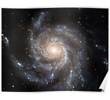 Spiral galaxy Messier 101. Poster