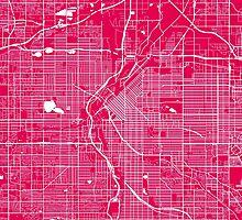 DenverDenver map rapsberry by mapsart