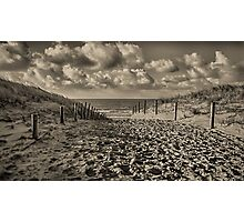 Dutch Seascapes, Lets walk to the beach Photographic Print