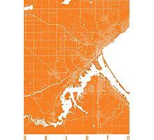 Duluth map orange Photographic Print