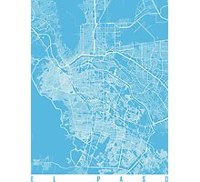 El paso map blue Photographic Print
