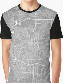 Fort Worth map grey Graphic T-Shirt