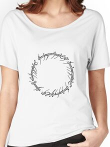 The One Ring Text - Black  Women's Relaxed Fit T-Shirt