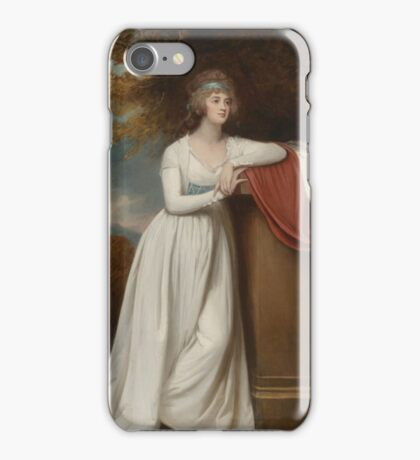 George Romney  Barbara, marchioness of Donegall, ca.  iPhone Case/Skin