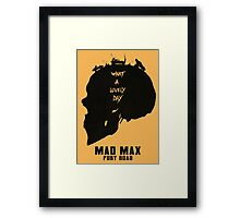 Mad Max Skull Road Framed Print