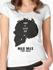 Mad Max Skull Road Women's Fitted Scoop T-Shirt