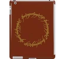 The One Ring Text - Gold iPad Case/Skin