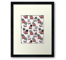 Sweater Cats valentine love cute kitten // pastel pink andrea lauren  Framed Print
