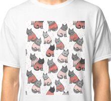 Sweater Cats valentine love cute kitten // pastel pink andrea lauren  Classic T-Shirt