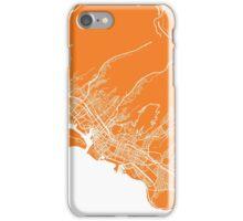 Honolulu map orange iPhone Case/Skin